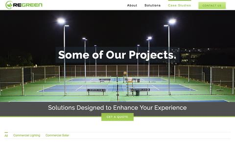 Screenshot of Case Studies Page regreencorp.com - Case Studies - REGREEN - captured Oct. 21, 2017