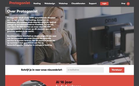 Screenshot of Team Page protagonist.nl - Over Protagonist - Sinds 1999 in de business - Protagonist - captured Nov. 14, 2016