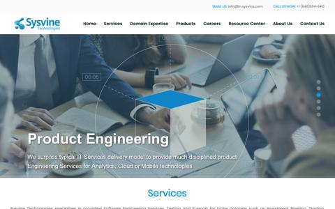 Screenshot of Services Page sysvine.com - Services | Sysvine Technologies - captured Oct. 19, 2018