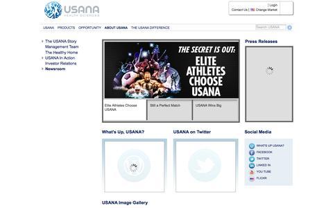 Screenshot of Press Page usana.com - USANA Newsroom | USANA - captured Oct. 29, 2014