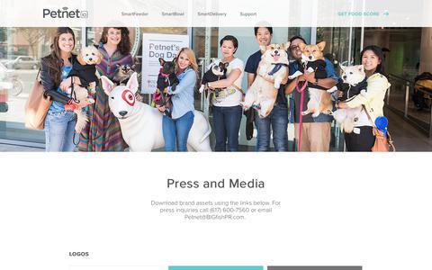 Screenshot of Press Page petnet.io - Press | Petnet - captured Nov. 16, 2017