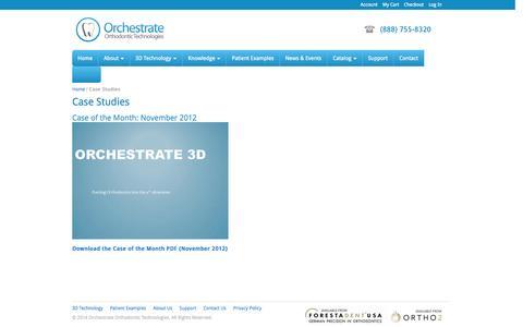 Screenshot of Case Studies Page orchestrate3d.com - Case Studies - captured Sept. 17, 2014