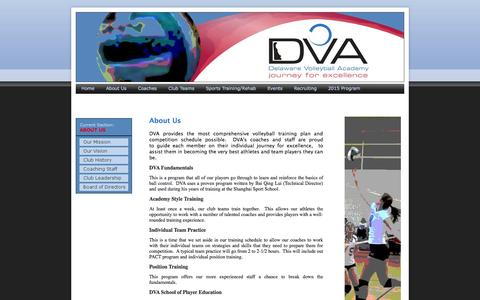 Screenshot of About Page dvavbc.com - About Us - captured Oct. 5, 2014