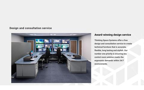 Screenshot of Services Page thinking-space.com - Control Room Design and Consultation   Thinking Space Systems - captured Nov. 17, 2017