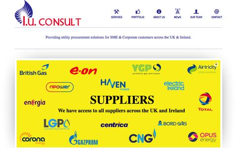 Screenshot of Home Page iuconsult.com - I.U.Consult LTD - Providing utility procurement solutions for SME & Corporate customers across the UK. - captured Oct. 3, 2014