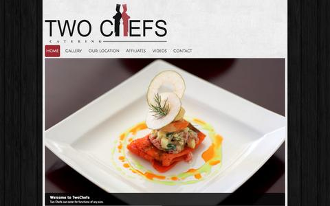 Screenshot of Home Page twochefs.co.za - Home - captured Oct. 6, 2014