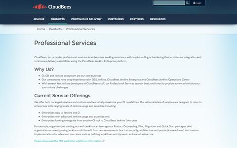 Screenshot of Services Page cloudbees.com - Professional Services | CloudBees - captured Dec. 3, 2015