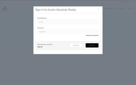 Screenshot of Login Page austinabsoluterealty.com - Austin Absolute Realty - captured July 10, 2018