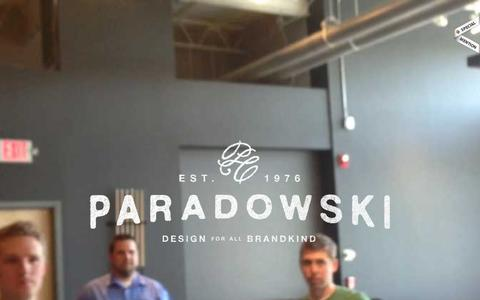 Screenshot of Home Page About Page paradowski.com - Paradowski Creative - captured Dec. 2, 2015