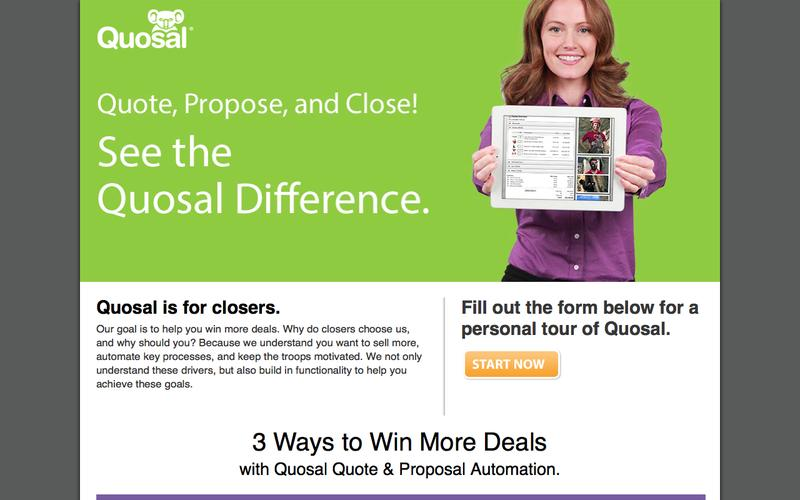 Quote, Propose, and Close! See the Quosal Difference.