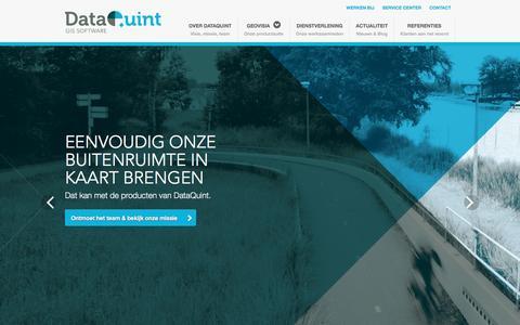 Screenshot of Home Page dataquint.nl - DataQuint | De makers van GeoVisia - captured Jan. 7, 2016
