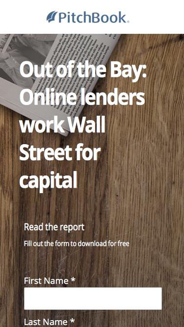 PitchBook FinTech Analyst Note - Out of the Bay: Online lenders work the Street for capital
