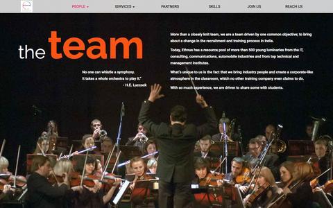 Screenshot of Team Page ethnus.com - The Team :: ETHNUS - captured July 8, 2016