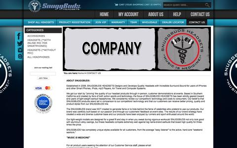 Screenshot of Contact Page snuggbuds.com - SnuggBuds Company - captured May 3, 2016