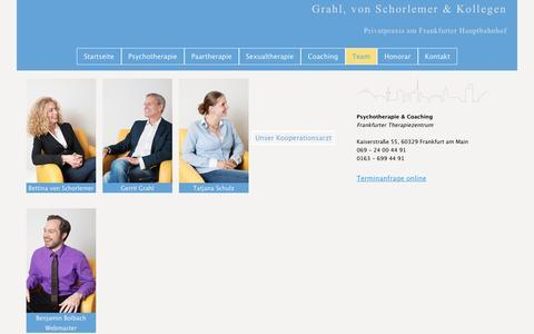 Screenshot of Team Page frankfurter-therapiezentrum.de - Frankfurter Therapiezentrum - Team - captured April 1, 2017