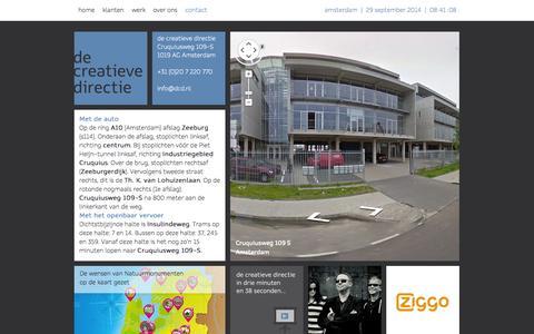 Screenshot of Contact Page decreatievedirectie.nl - contact - de Creatieve directie - captured Sept. 30, 2014