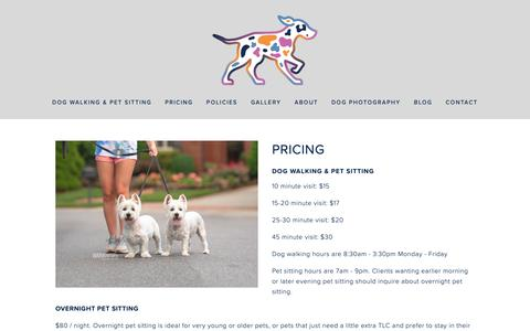 Screenshot of Pricing Page seespotruncharlotte.com - Charlotte NC Dog Walking Pricing — See Spot Run - captured Oct. 2, 2018