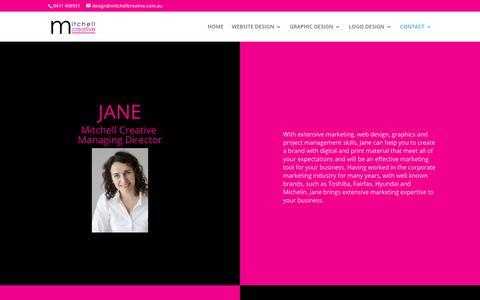 Screenshot of Team Page mitchellcreative.com.au - Our Team   Mitchell Creative - captured Feb. 9, 2018