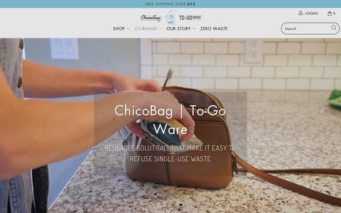 Screenshot of Home Page chicobag.com - ChicoBag | Compact Reusable bags, packs, totes - captured Nov. 12, 2019