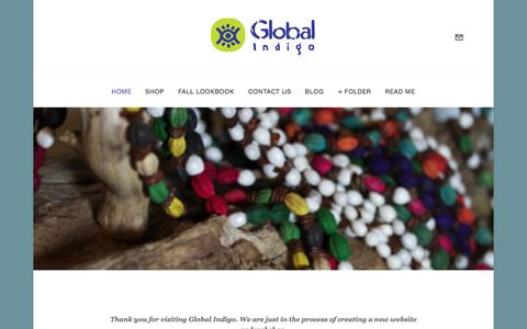 Screenshot of Home Page globalindigo.org - Global Indigo website coming soon - captured Oct. 3, 2014