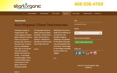 Screenshot of Testimonials Page startorganic.org - Client Testimonials - StartOrganic - captured Oct. 1, 2014