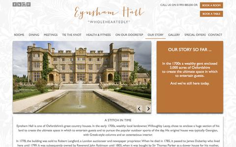 Screenshot of About Page eynshamhall.com - Luxury Boutique Hotel in Oxford | Eynsham Hall, Witney, Oxfordshire - captured Nov. 14, 2016