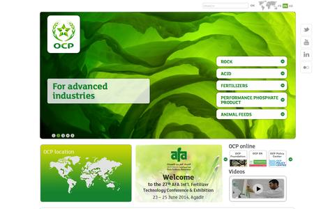 Screenshot of Products Page ocpgroup.ma - OCP Products - captured Oct. 6, 2014