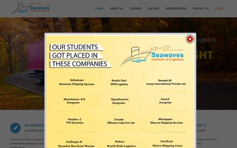 Screenshot of Home Page seawaves.in - Seawaves Institute of Logistics | Air Cargo, Sea Cargo, Freight forwarding, Supply Chain ManagementSeawaves Institute of Logistics | Just another WordPress site - captured Sept. 18, 2015