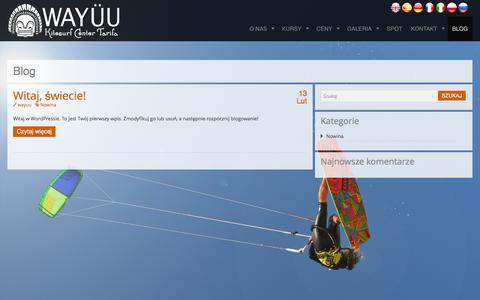 Screenshot of Blog wayuukitesurfcenter.pl - Blog | Wayüu Kitesurf Center - captured March 14, 2016