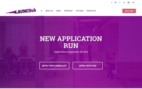 Screenshot of Home Page launchub.com - Launchub | Launchub - captured Sept. 26, 2014