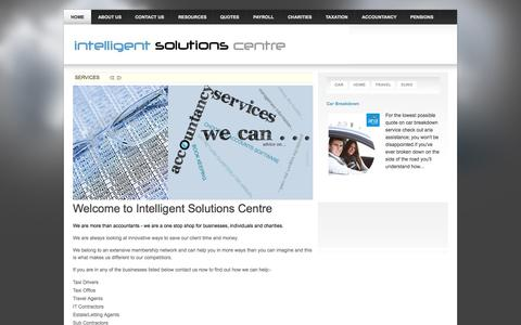 Screenshot of Home Page intelligent-solutions-centre.co.uk - Welcome to Intelligent Solutions Centre - captured Sept. 7, 2015