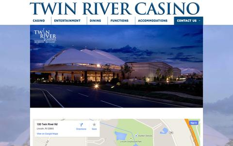Screenshot of Maps & Directions Page twinriver.com - Directions - Twin River Casino - captured Oct. 6, 2014
