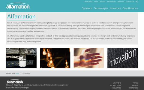 Screenshot of About Page alfamationglobal.com - About us   Alfamation - captured Oct. 8, 2017