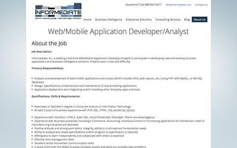 Screenshot of Developers Page informediate.com - Developer   Informediate - captured Feb. 10, 2016