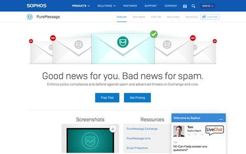 Exchange Email Protection: Anti Spam, DLP for Exchange, Domino and Unix Servers   Sophos PureMessage