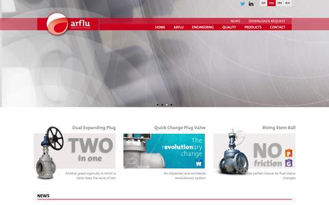 Screenshot of Home Page arflu.com - Arflu - captured Dec. 18, 2018