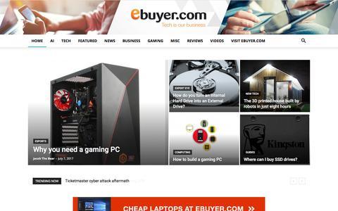 Screenshot of Blog ebuyer.com - Home - Ebuyer Blog - captured July 15, 2018