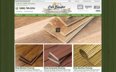 Screenshot of Home Page calibamboo.com - Green Building - Sustainable Products & Construction Materials | Cali Bamboo - captured Sept. 19, 2014