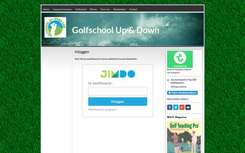Screenshot of Login Page golfschoolupanddown.com - Inloggen - Golfschool Up & Down - Golfles in Eindhoven- Golfreizen naar de Algarve (inclusief les) - captured July 16, 2016