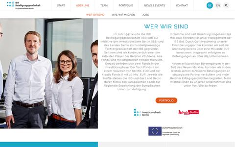 Screenshot of Jobs Page ibb-bet.de - Ãœber uns - captured Nov. 17, 2016