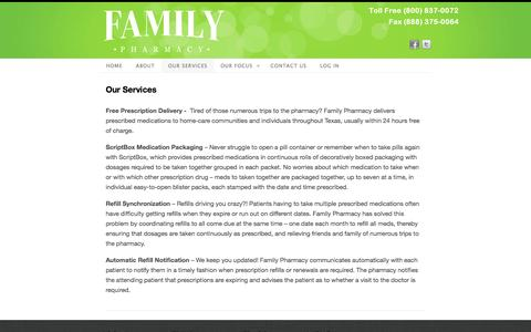 Screenshot of Services Page scriptsdirect.com - Our Services - captured Sept. 30, 2014