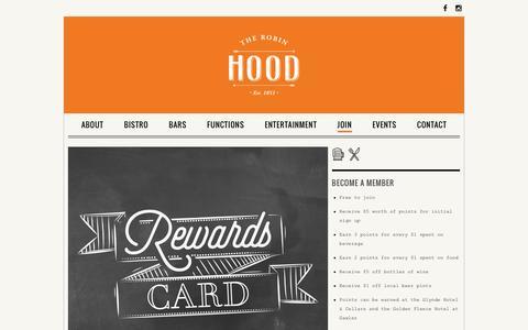 Screenshot of Signup Page robinhoodhotel.net.au - Join - The Robin Hood Hotel - captured Feb. 27, 2016