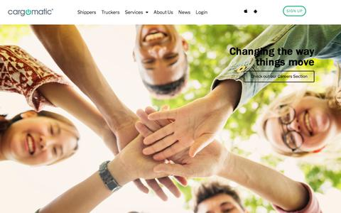 Screenshot of Jobs Page cargomatic.com - Careers – Cargomatic - captured July 6, 2019