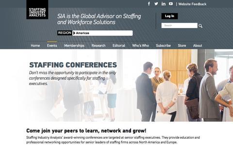 Screenshot of staffingindustry.com - Staffing Conferences – Staffing Industry Analysts - captured April 30, 2017