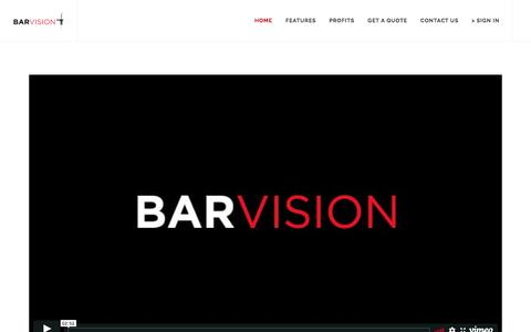 Screenshot of Home Page barvision.com - BarVision: Low impact. HIGH ROI. 484-730-2000 - Free Pour Wireless Monitoring - captured Jan. 20, 2018