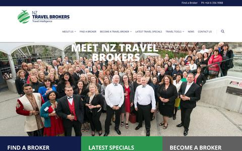 Screenshot of Home Page nztravelbrokers.co.nz - Home | NZ Travel Brokers - captured Sept. 21, 2018