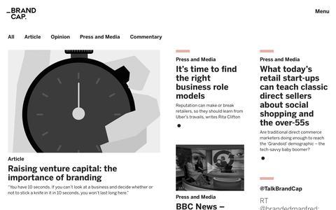Screenshot of Press Page brandcap.com - Newsroom - BrandCap - captured June 2, 2017