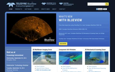 Screenshot of Home Page blueview.com - Home - Teledyne-BlueView - captured July 11, 2014