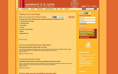 Screenshot of Press Page weekendalacarte.co.uk - Weekend a la Carte News - captured Oct. 26, 2014
