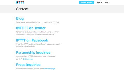 Contact - IFTTT
